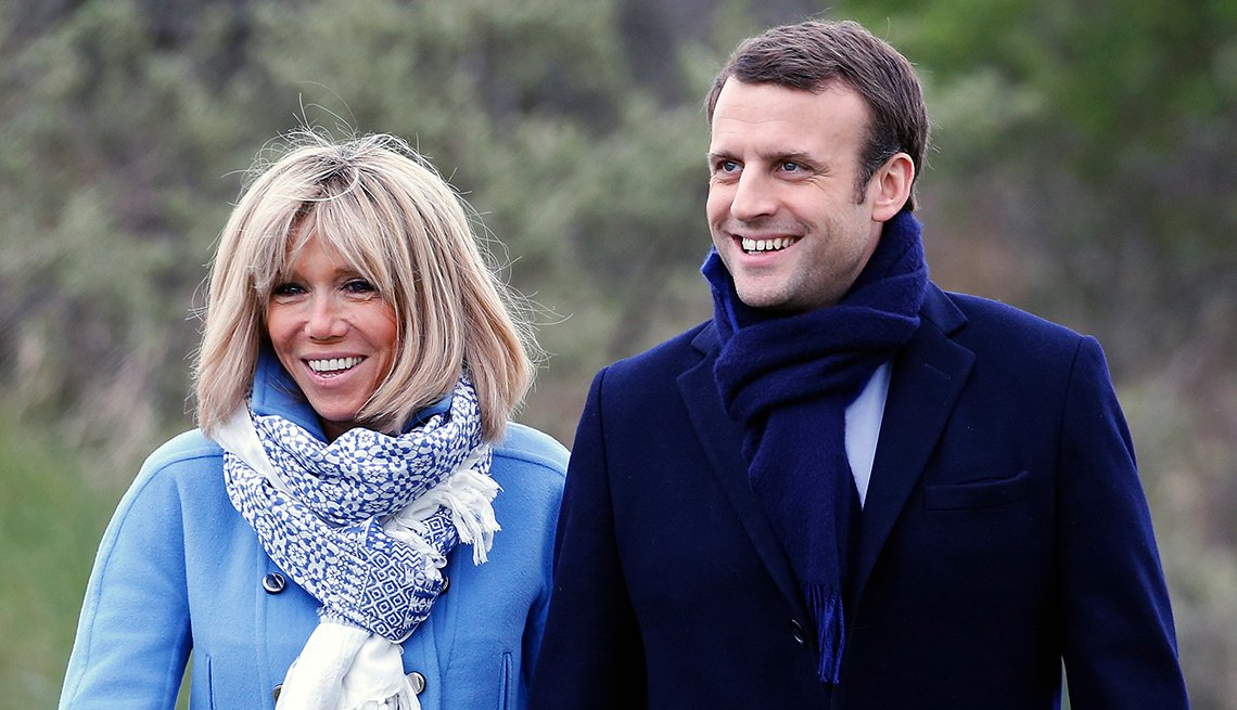 French President-Elect Has Wife 24 Years His Senior