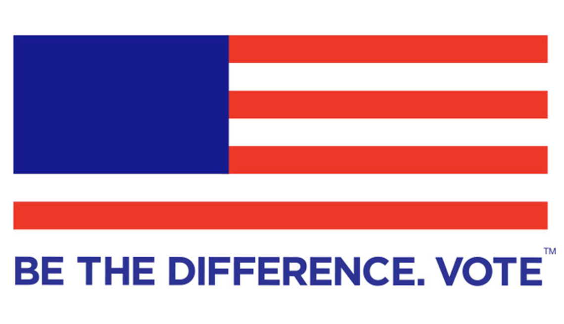AARP Voter education. Be the Difference. Vote