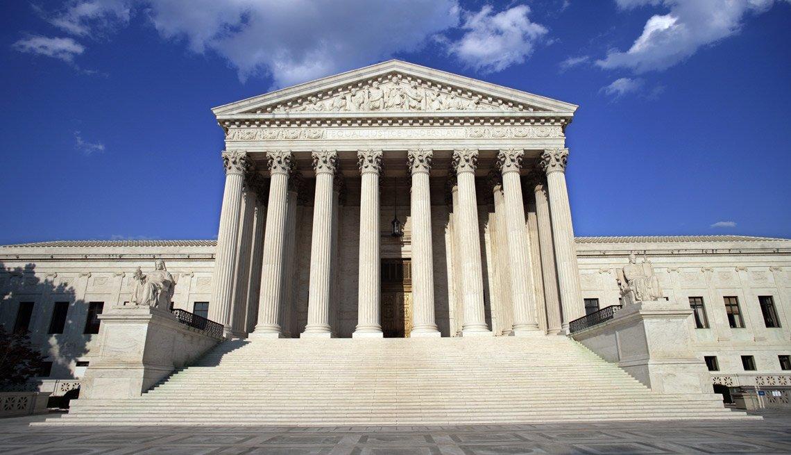 Edificio de la Corte Suprema de Estados Unidos.