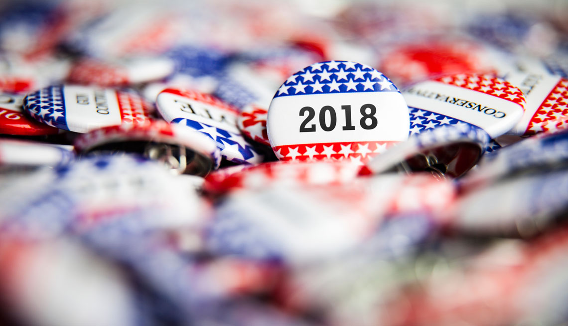 Botón alusivo a las elecciones del 2018 en Estados Unidos.