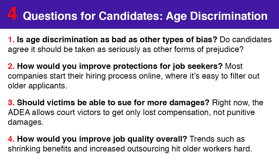Four questions to ask candidates about age discrimination