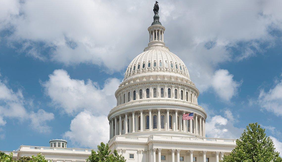 Edificio del Capitolio en Washington DC, USA.