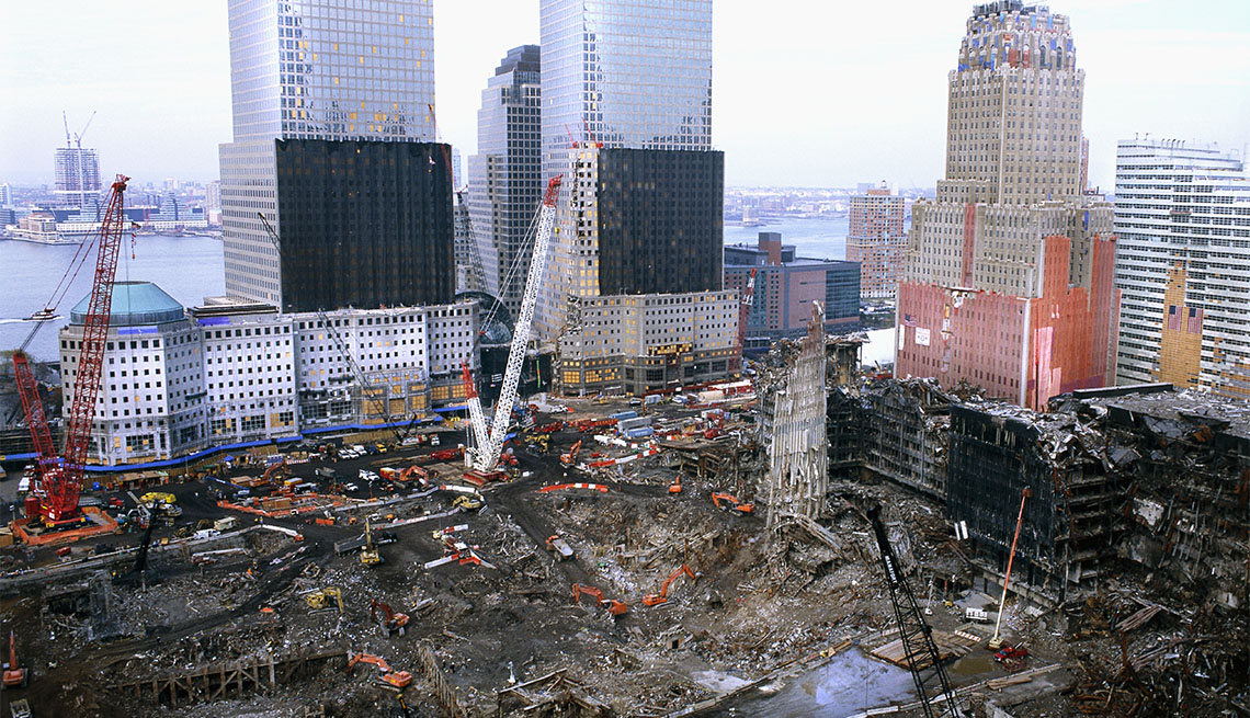 Excavation at 9-11 site