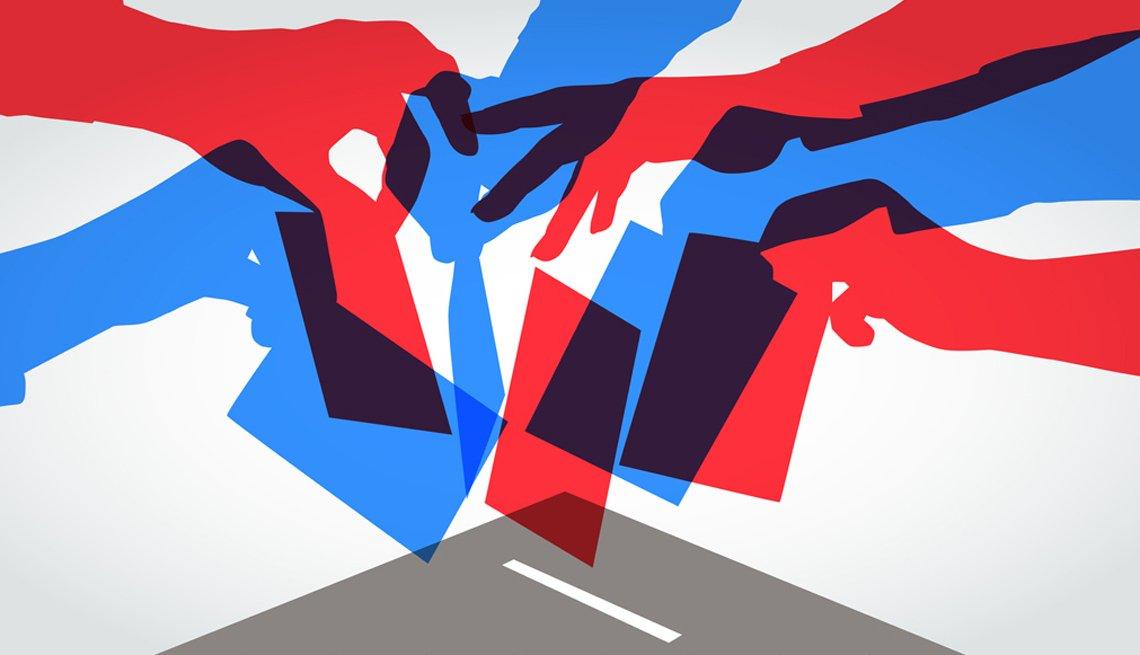 Gráfica muestra a electores votando