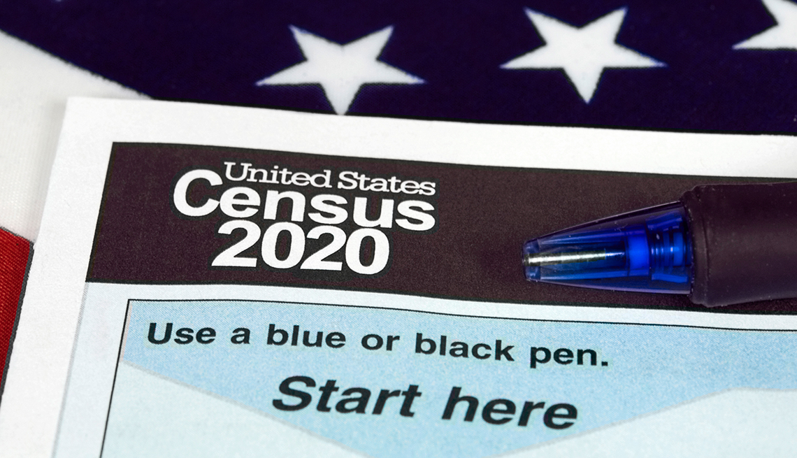 Form for the two thousand twenty Census