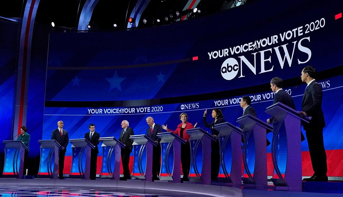 Grupo de candidatos a la nominación del Partido Demócrata para la presidencia de EE.UU.