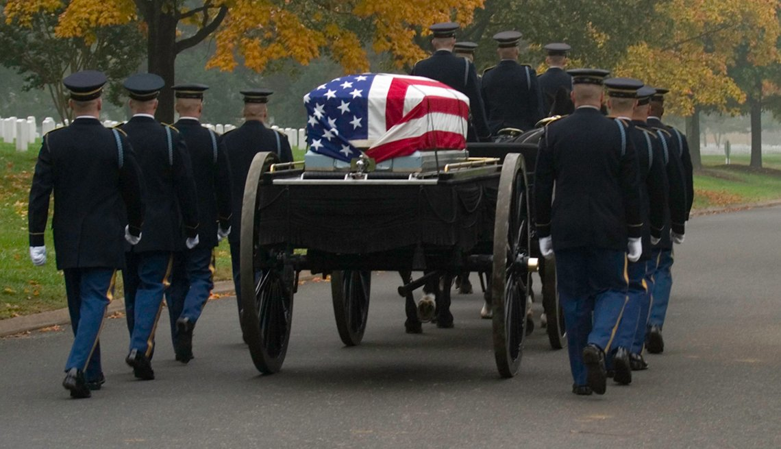 Military funeral at Arlington National Cemetery
