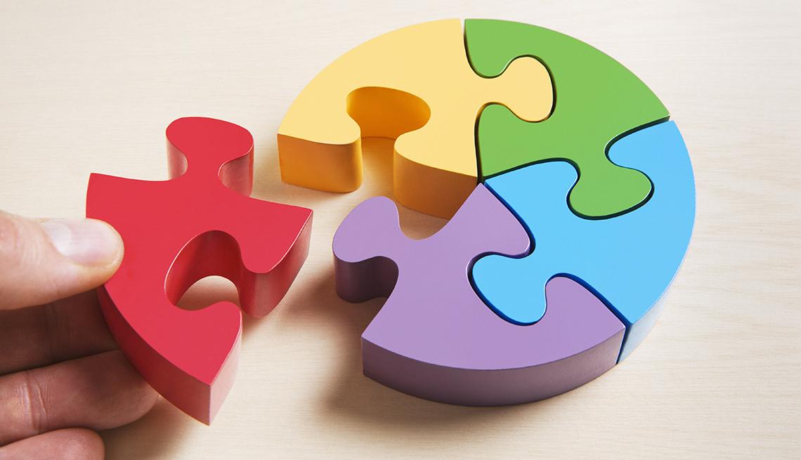 Census concept - multicolored puzzle