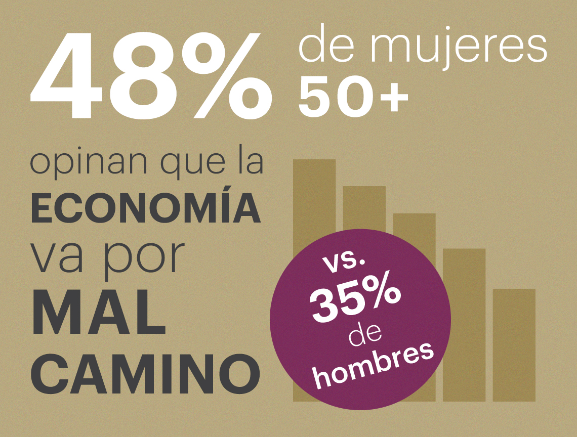 48 por ciento de las mujeres encuestadas opinan que la economía va por mal camino