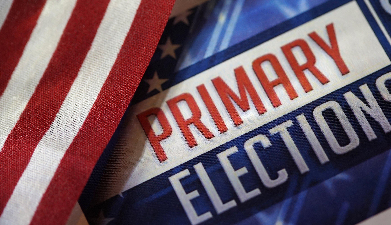 Imagen muestra las palabras en inglés primary elections