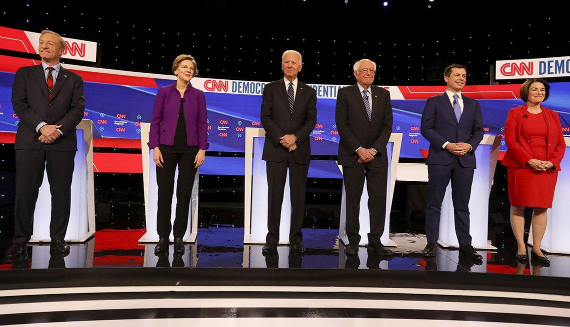 Candidatos para la nominación del partido demócrata debaten en Iowa