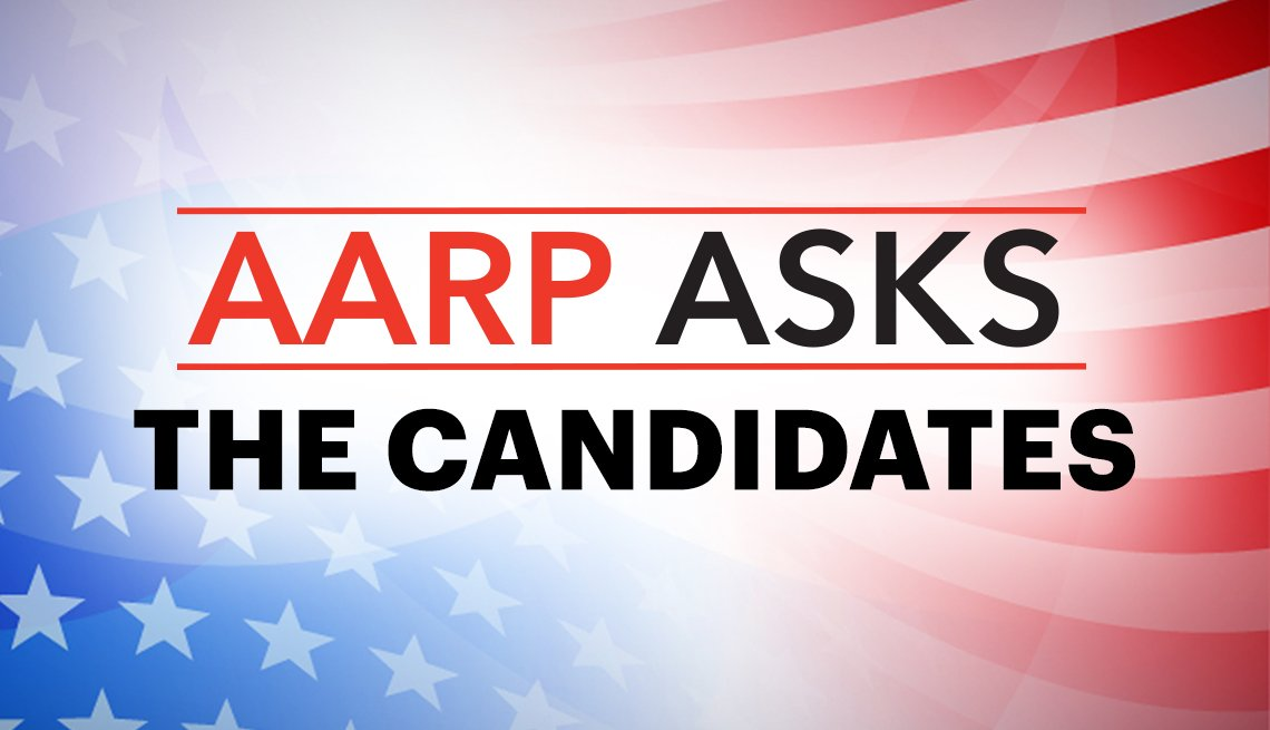 flag background with the words a a r p asks the candidates