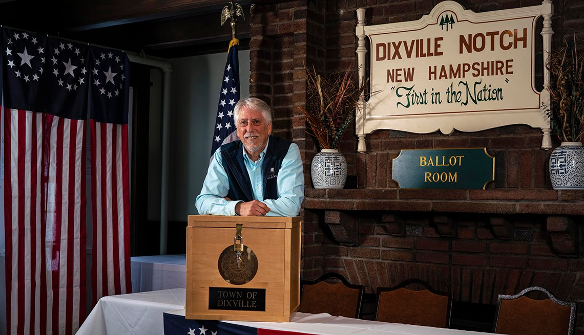 Dixville Notch New Hampshire Voting Box