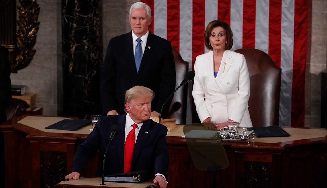 President Donald Trump delivers the state of the union