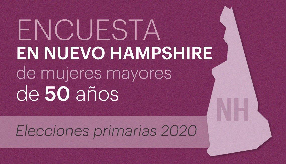 Encuesta en Nuevo Hampshire a mujeres votantes mayores de 50 años