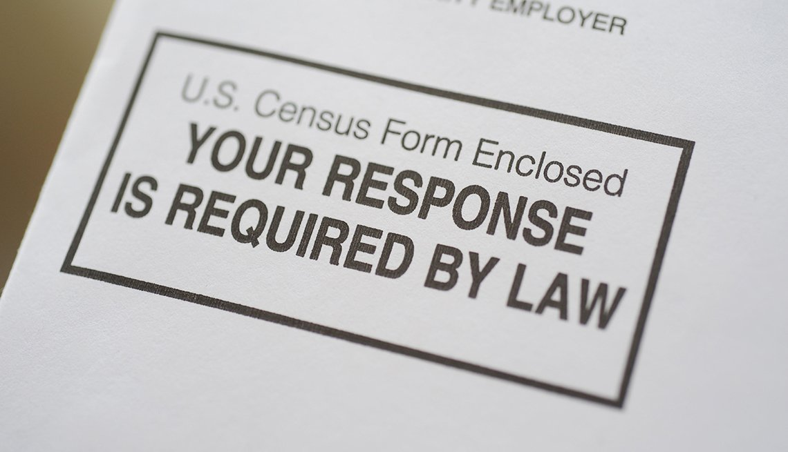 Formulario del censo dice en inglés -Your response is required by law-