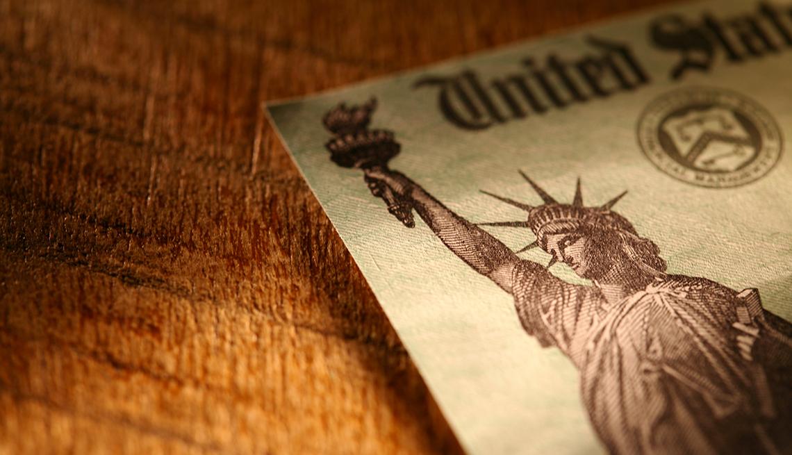 Cheque del Tesoro de Estados Unidos