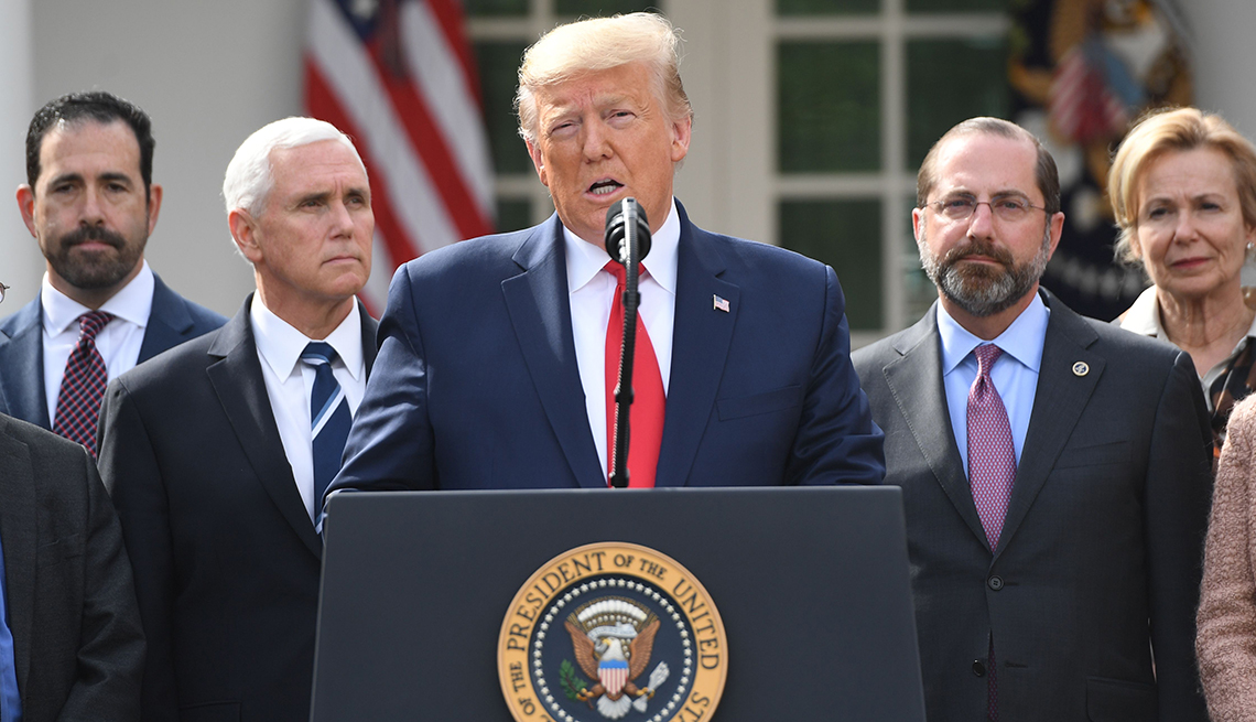 President Trump speaks at the White House