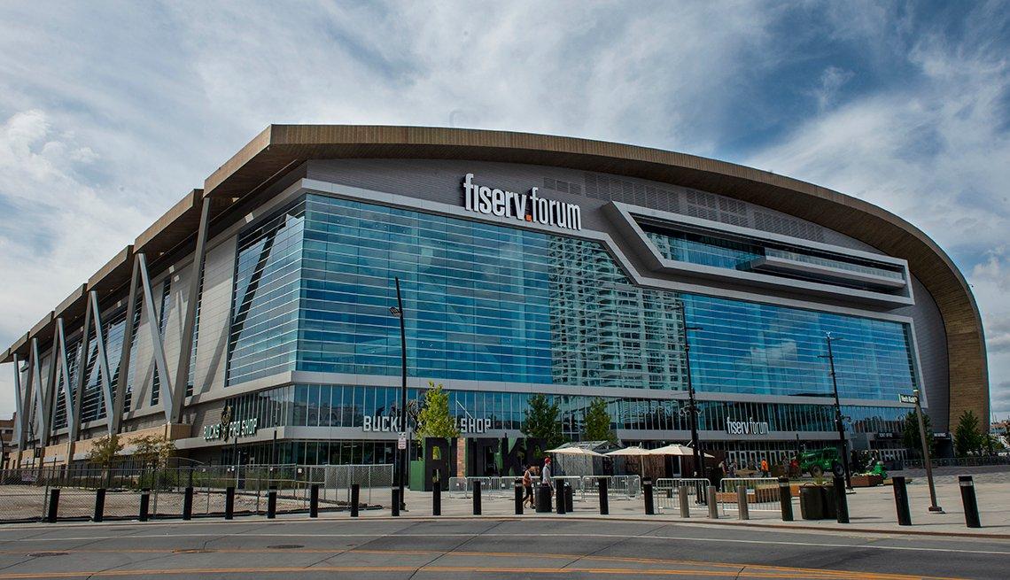 The Fiserv Forum in Milwaukee