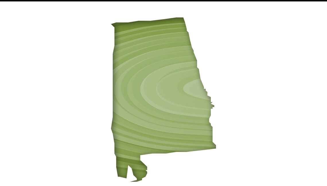 Mapa de Alabama
