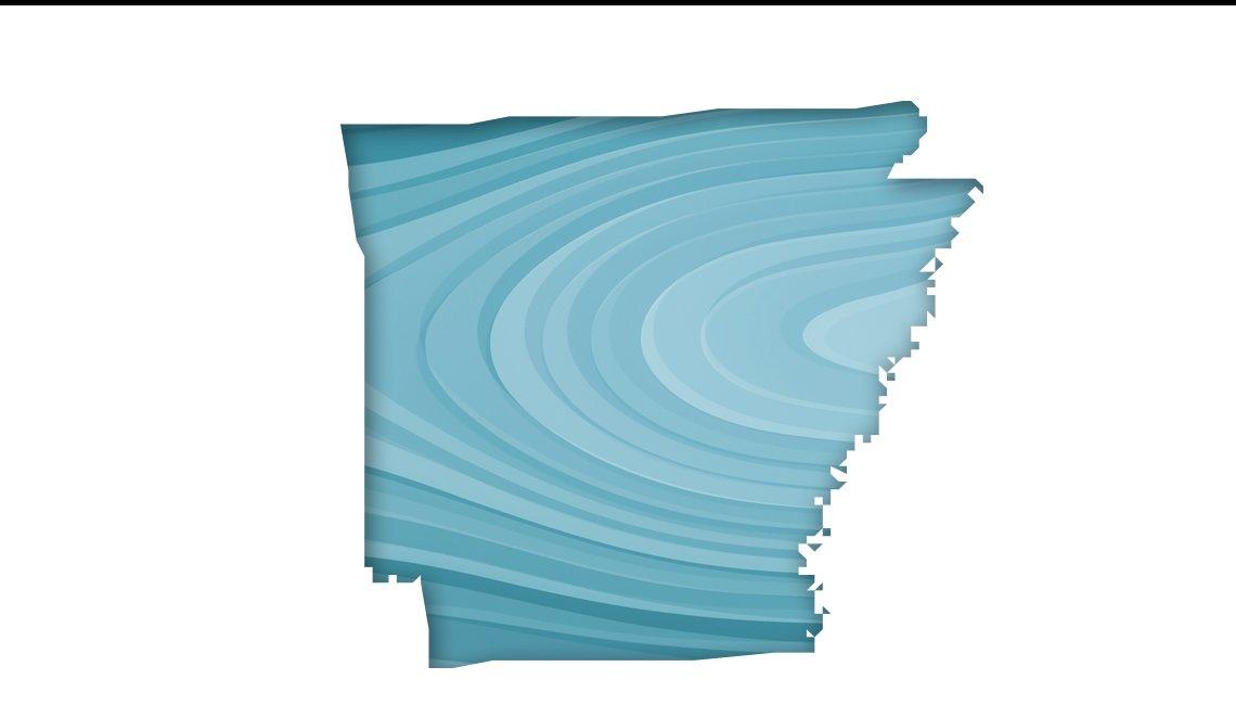 Mapa de Arkansas