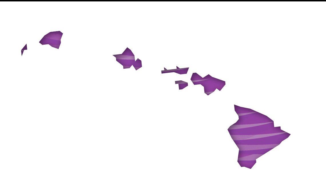 Mapa de Hawái