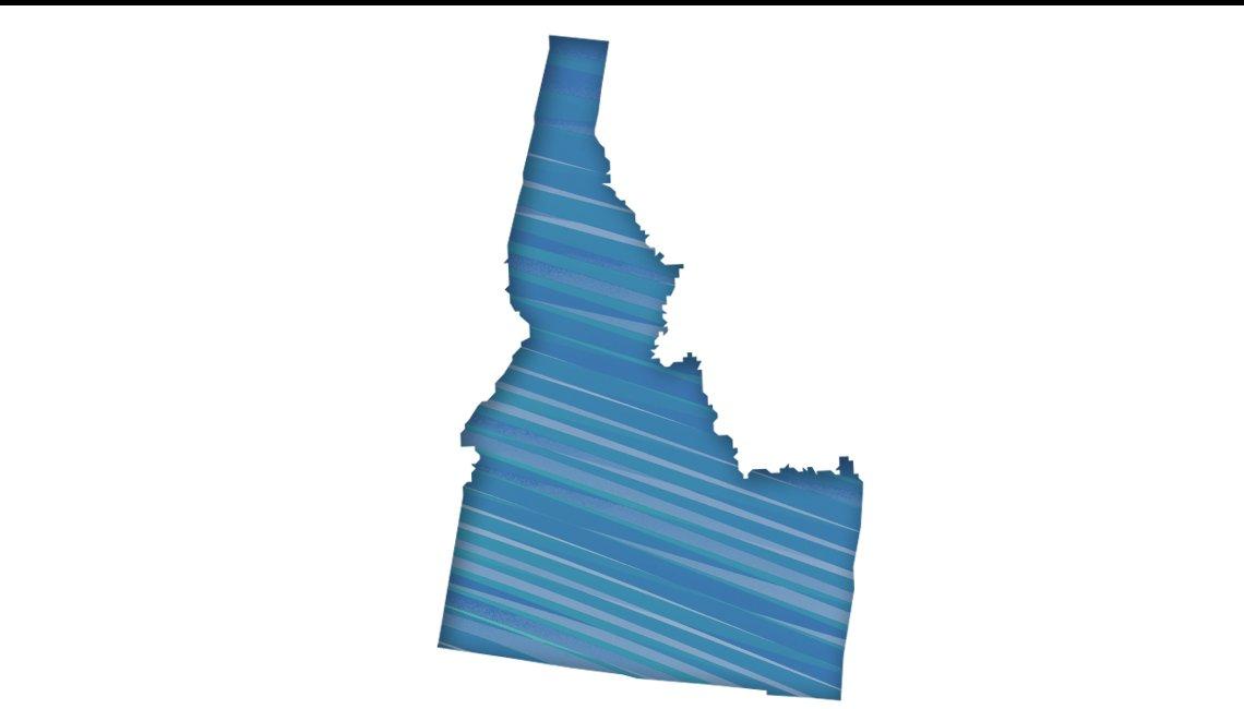 Mapa de Idaho