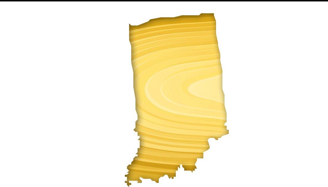 Mapa de Indiana
