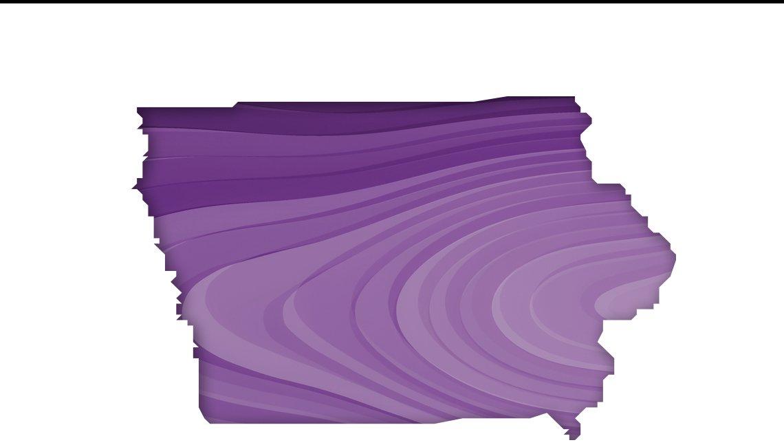 Mapa de Iowa