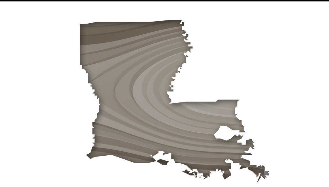 Mapa de Luisiana