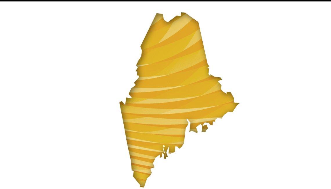 Mapa de Maine