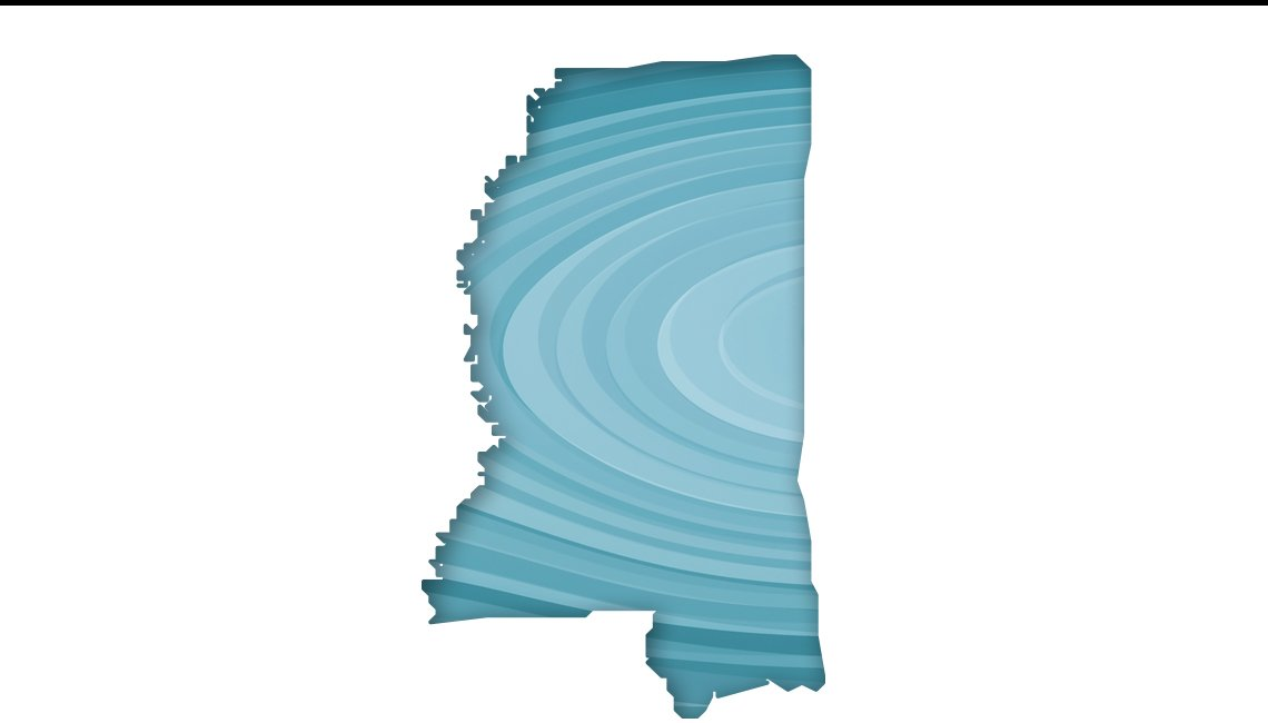 Mapa de Misisipi