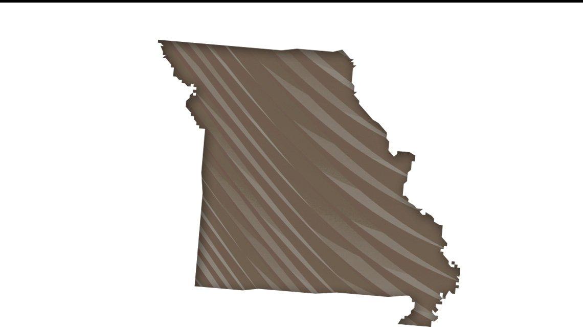 Mapa de Missouri