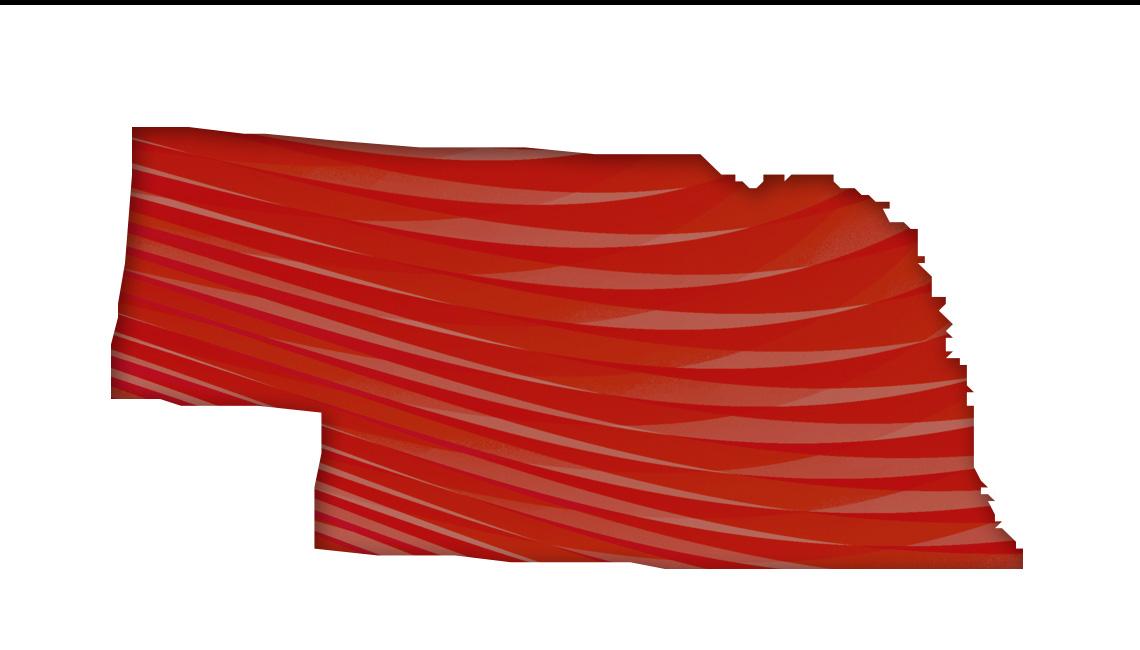 Mapa de Nebraska