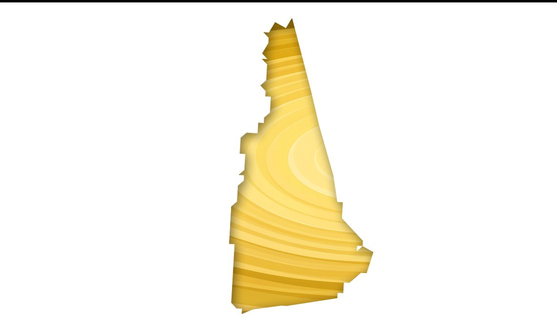 Mapa de New Hampshire