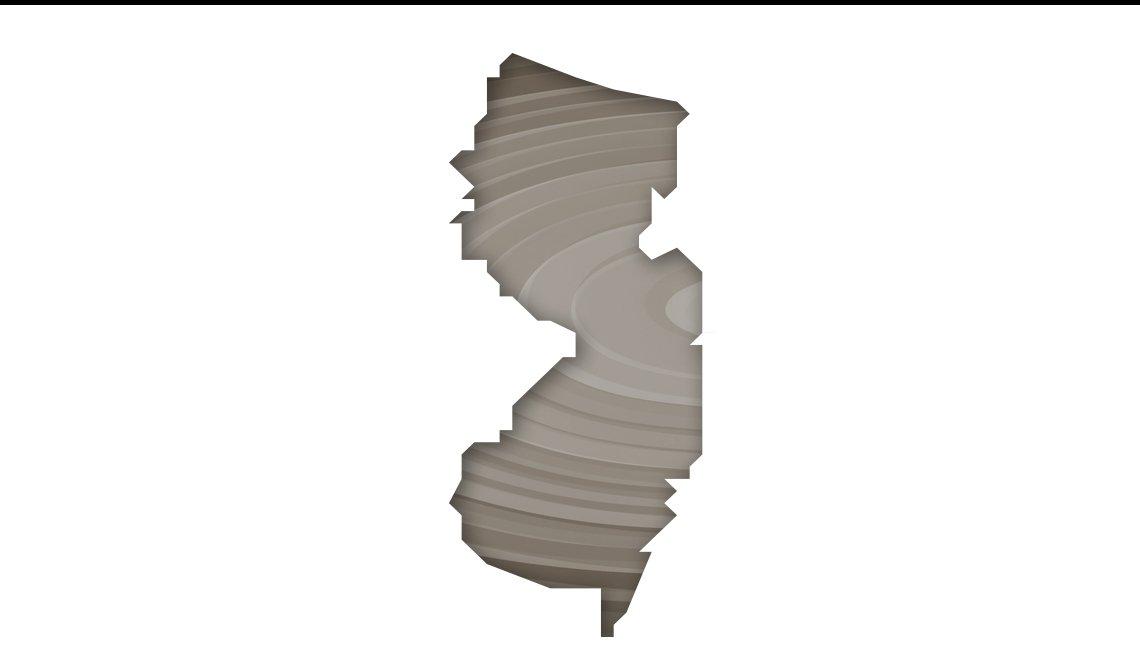 Mapa de Nueva Jersey