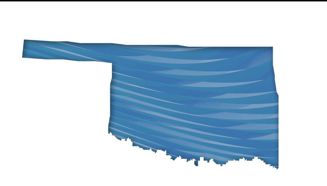 Mapa de Oklahoma
