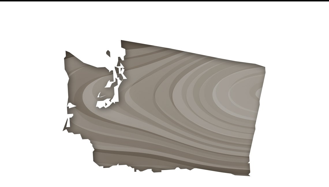Mapa del estado de Washington