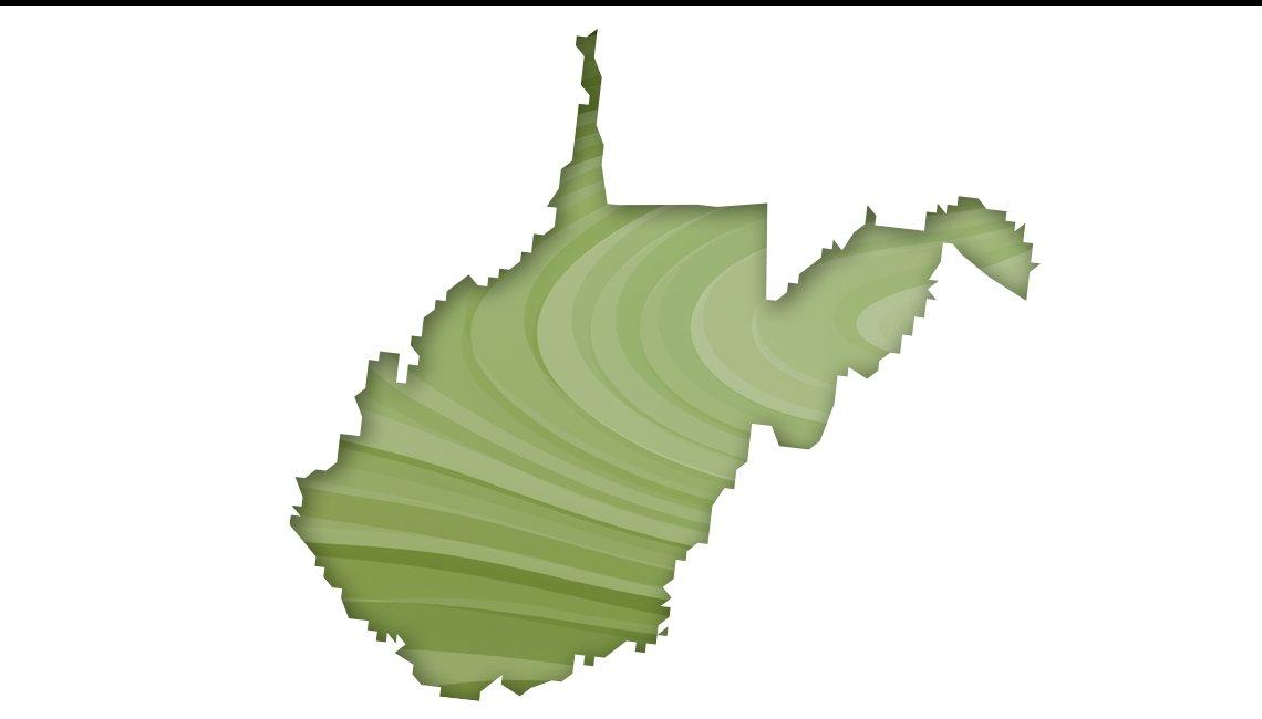 Mapa de Virginia Occidental