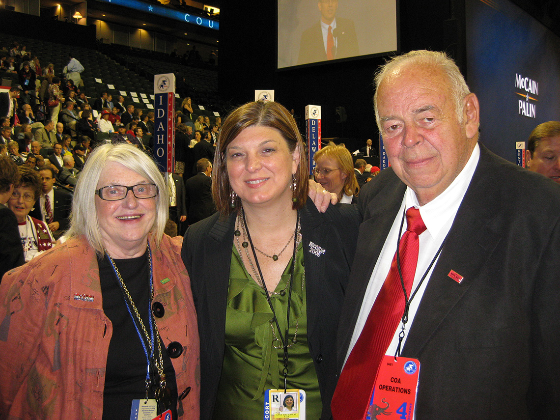 delegate anne hathaway and her parents at the two thousand eight republican national convention