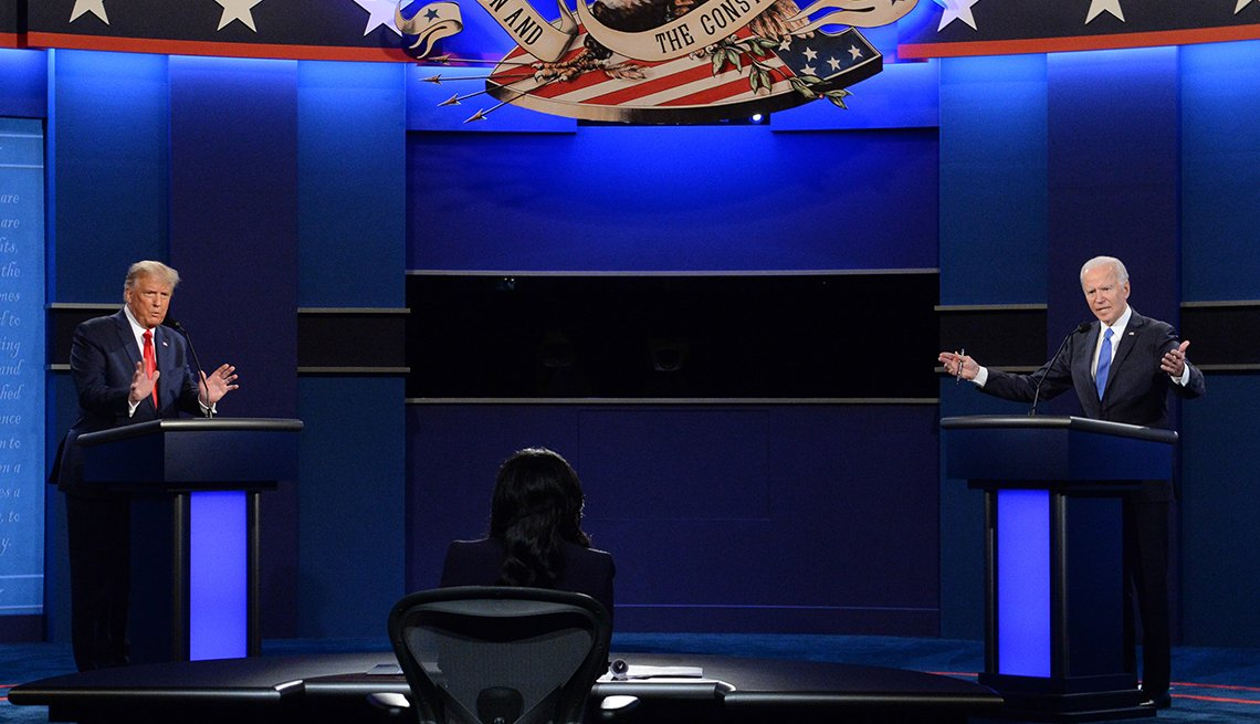 the two candidates in the final presidential debate on october twenty second twenty twenty
