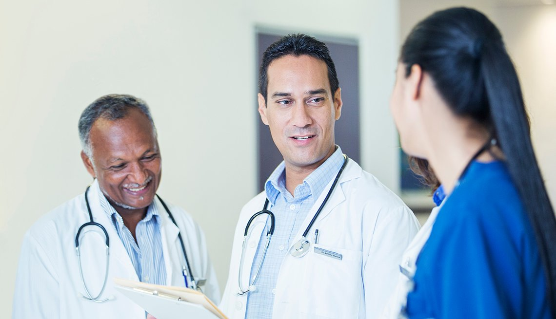 Doctor Discuss Patient Notes With Nurse, AARP Public Policy Institute, Healthcare Experts