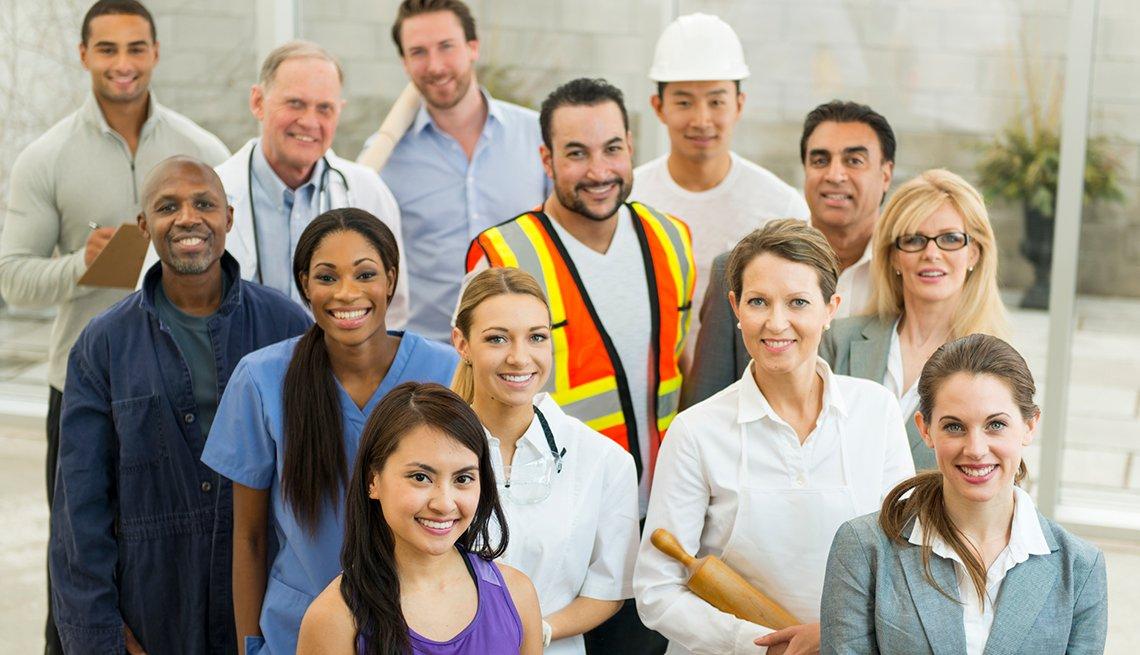 Multi-ethnic workforce, AARP, Public Policy Institute, Future of Work @ 50 +