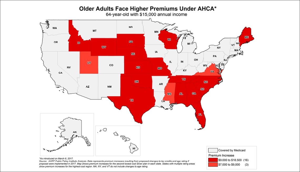 AHCA Premium Map