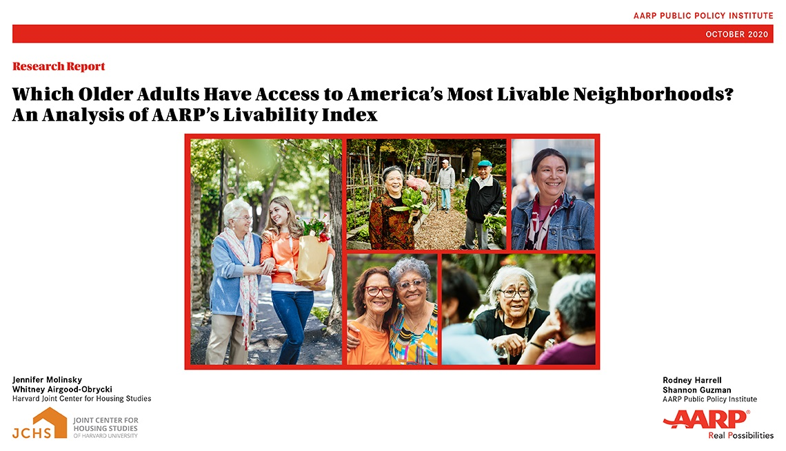 Report Cover for Livability Index 2020 Analysis