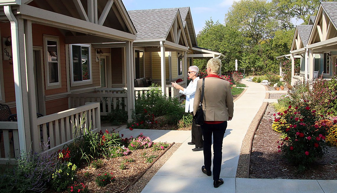 Women on Path Between Homes, AARP Livable Communities, Public Policy Institute, Livability Index