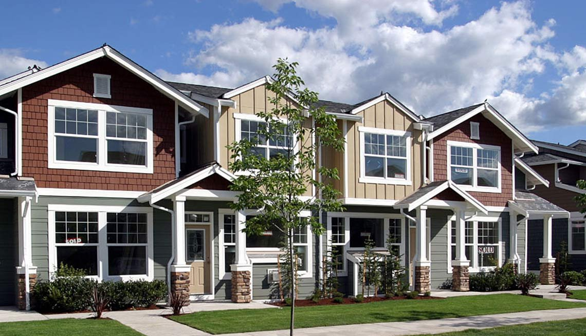 Row of Houses, Snoqualame Village, Public Policy Institute, Livable Communities