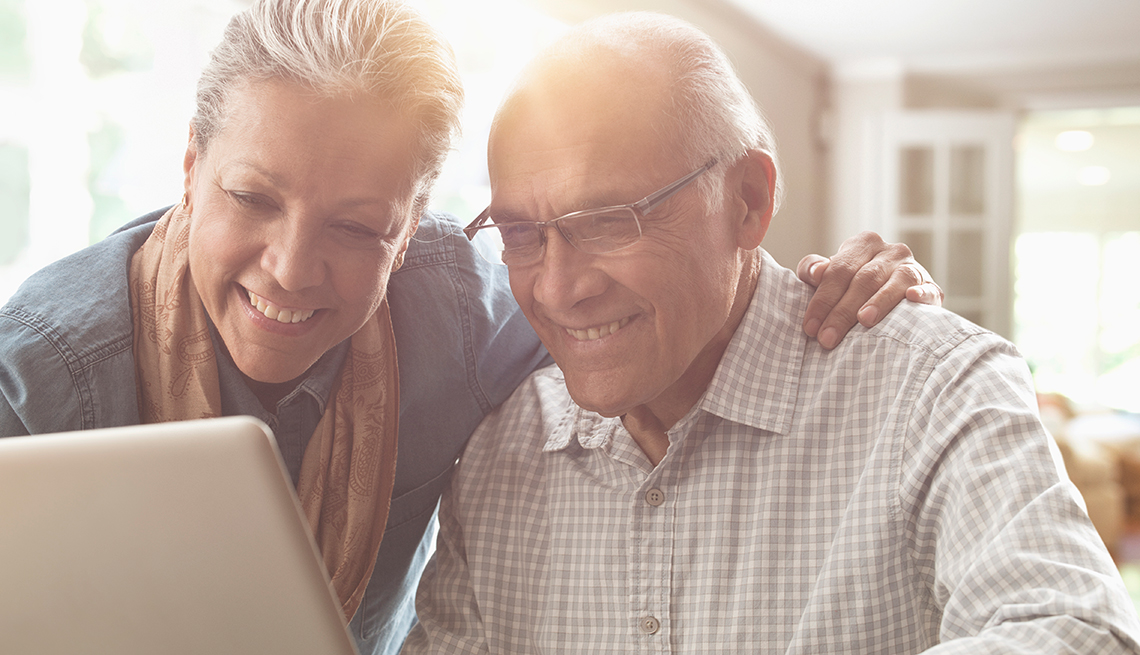 Mature couple, using computer, High-speed Internet, Public Policy Institute, AARP, Livable Communities