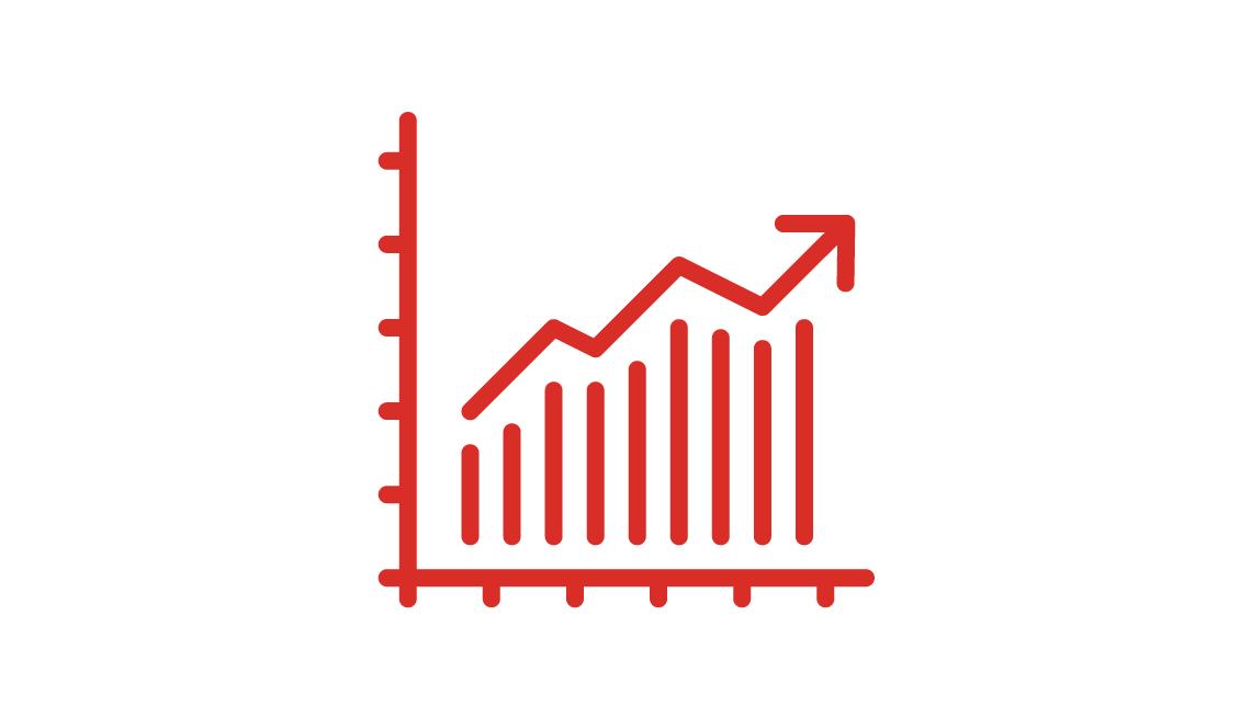 Icon of a bar graph