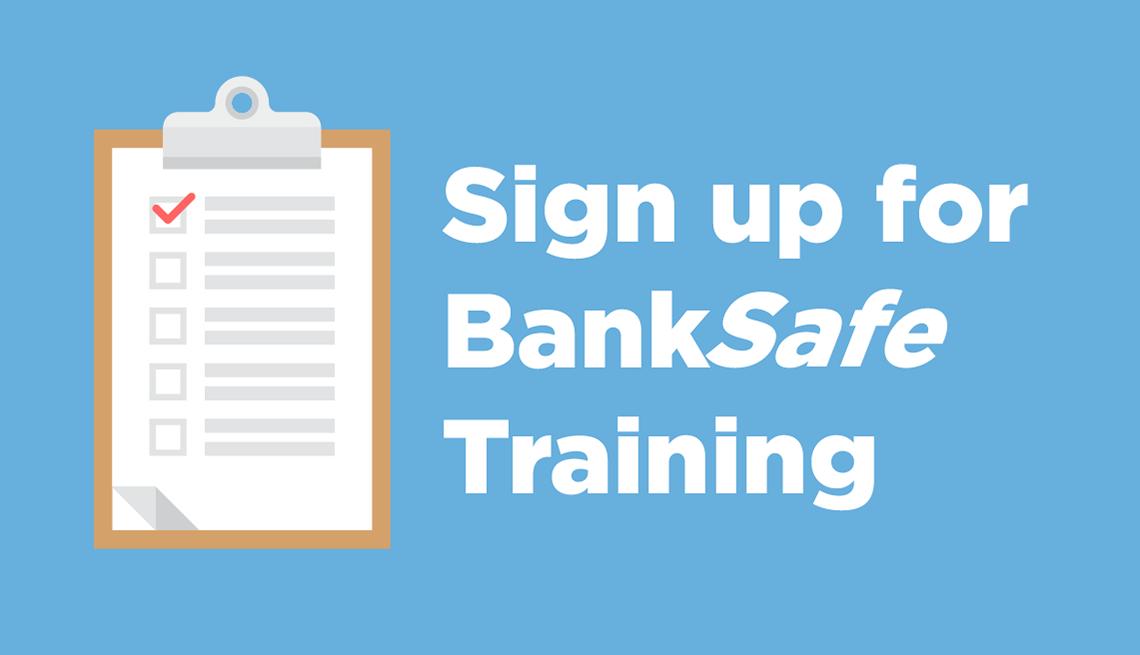 Sign up for bank safe training